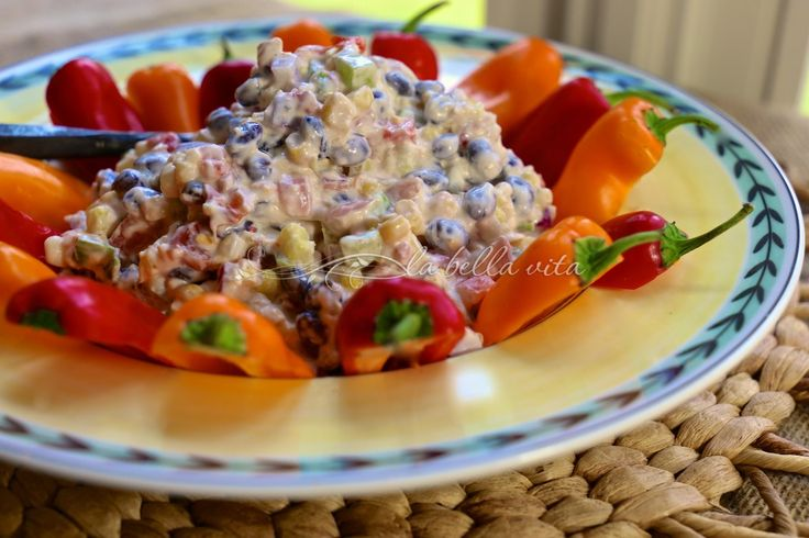 cheesy fiesta corn dip YUMMO!  La Bella Vita Cucina