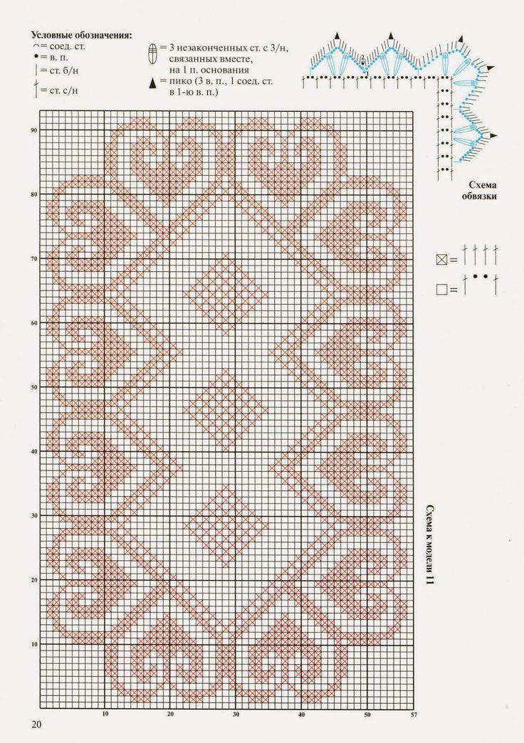 786 besten Croche Filet Bilder auf Pinterest   Messe Inseln ...