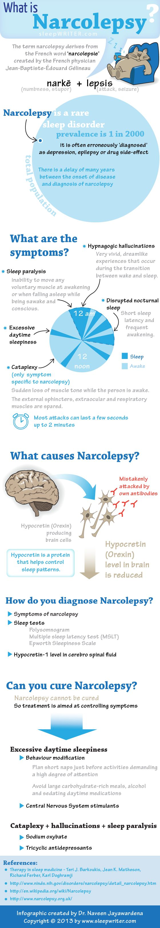 Narcolepsy is a sleep disorder