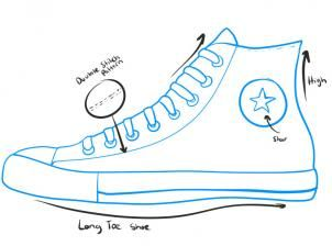 How to Draw Converse, How to Draw Chuck Taylors, Step by Step, Fashion, Pop Culture, FREE Online Drawing Tutorial, Added by Dawn, March 21, 2011, 1:49:50 am