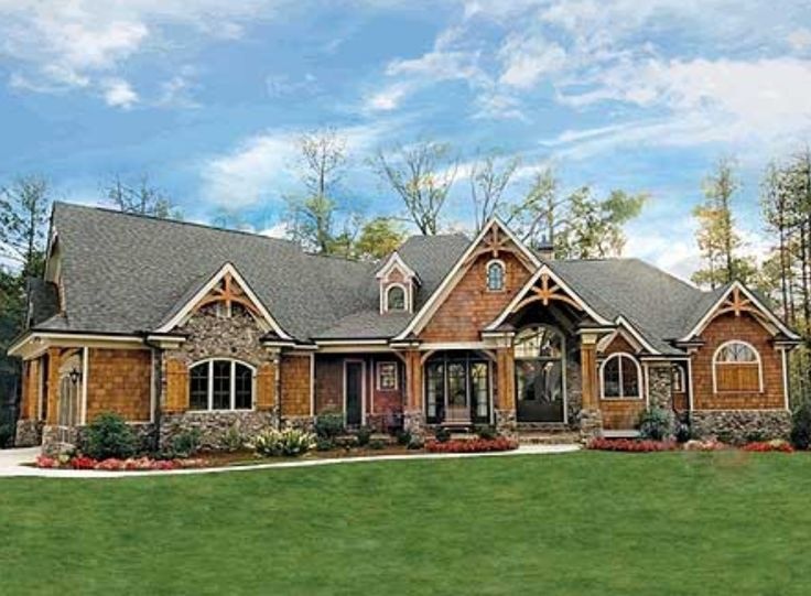 17 best images about gable roof front entrance on for Rustic craftsman house plans