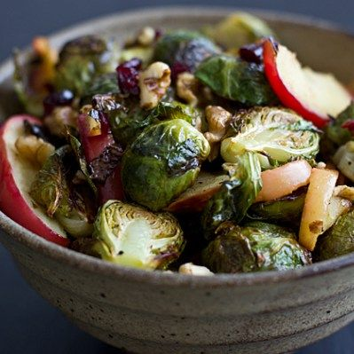 Roasted Brussels Sprouts & Apples Recipe