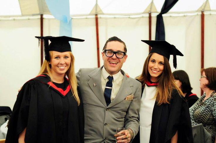 Dr. Matt Lodder with our graduates.