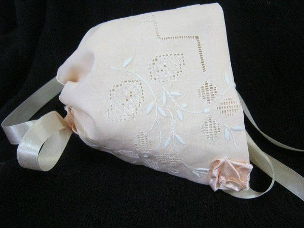 Victorian style Baby Bonnets  made by Andama Dujon at the Knick Knackery Glen Innes from vintage linen
