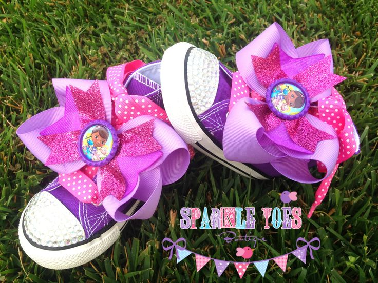 DOC MCSTUFFINS SHOES - Doc Mcstuffins Costume - Doc Mcstuffins Party - Doc Mcstuffins Birthday - Bling Converse - Infant/Toddler/Youth by SparkleToes3 on Etsy https://www.etsy.com/listing/193255596/doc-mcstuffins-shoes-doc-mcstuffins