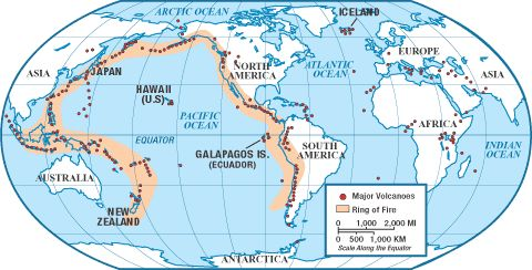 Ring of Fire - with questions | Geography | Pinterest
