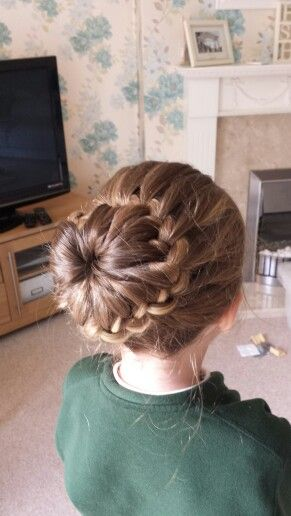 Isabelle S Plaited Bun Not Your Average School Day Hair Do