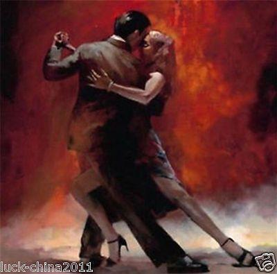 новый современный винтажный искусства картин маслом картина холст любовник Танго танец (без рамки
