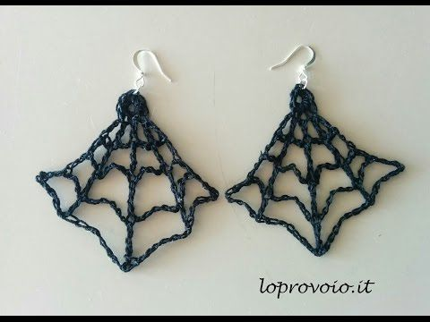 Colletto ragnatela all'uncinetto - Accessori per Halloween - YouTube