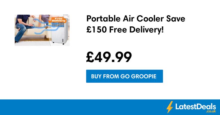 Portable Air Cooler Save £150 Free Delivery!, £49.99 at Go Groopie