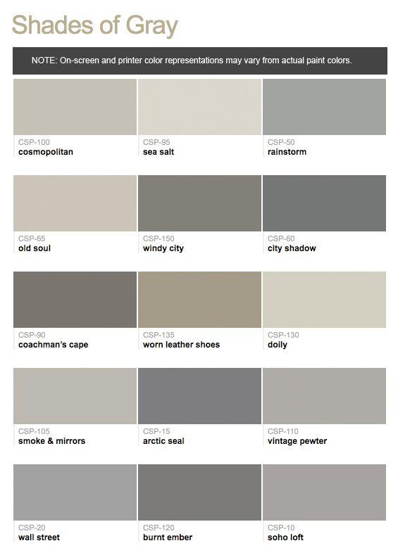 470 best paint color names images on pinterest color for Grey color palette names