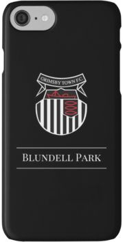 Black & White Football - Grimsby Town FC iPhone 7 Cases