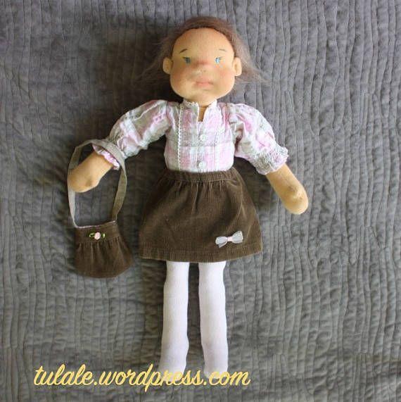 OOAK clothes set for art rag Waldorf American doll 14