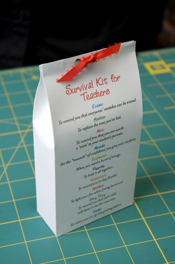 Survival Kit for Teachers Printable PDF by pixiedustgifts on Etsy
