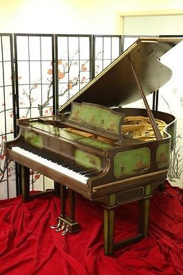 Art-Case-Weber-Piano-Hand-Painted-Chinoiserie-Scenes
