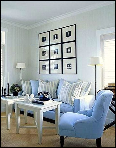 358 best Black, White and Blue all over images on Pinterest Blue - blue living room chairs