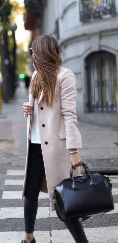 #street #style fall / light pink coat