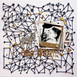 PapErHeArt: Szép álmokat Kincsem! #scrapbook #scrapbooking #maggiehdesigns #silhouetteamerica #pentart #cameo #cutfile #12x12 #gold #blue #layout