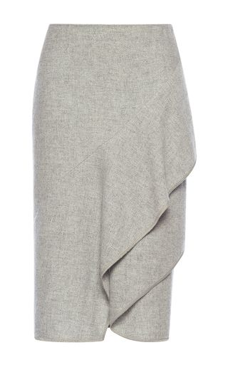 Wool Tiered Skirt  by ALBERTA FERRETTI for Preorder on Moda Operandi