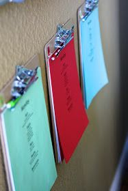Clipboards {Home School Organization}
