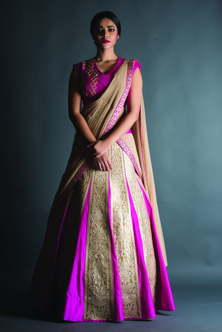 #Traditional Indian #wedding lehenga  with modern touch..#Indian #Bridal collection..Defined by rishiandsoujit..