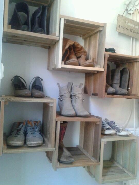 Schoenen kast steigerhout