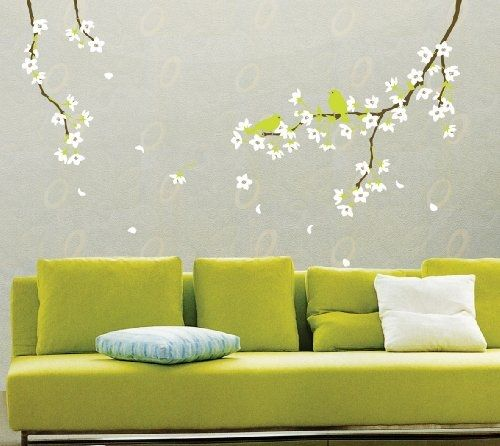 wall stencil, decal, sticker, wall, squidoo