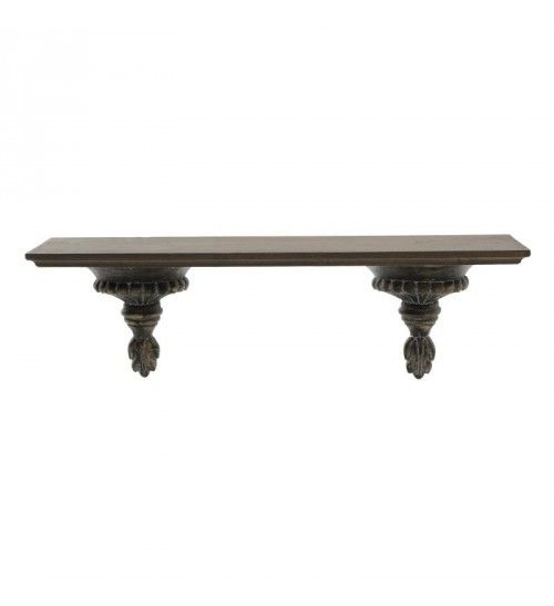 WOODEN WALL SHELF IN BROWN COLOR 63X15_5X21