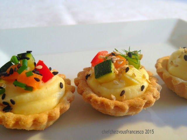 Chefchezvous: Cestini di verdure con crema pasticcera salata di Luca Montersino