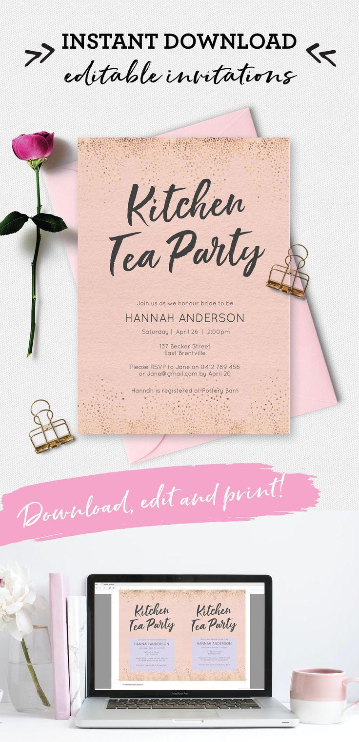 Best 25+ Kitchen tea invitations ideas on Pinterest   Kitchen tea ...