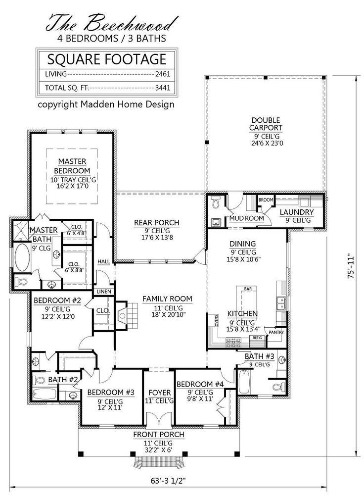 34 best House Plans images on Pinterest | Arquitetura, Floor plans ...