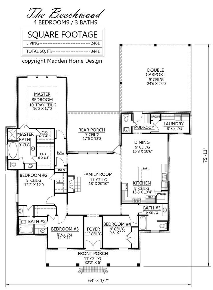 1000 images about house plans on pinterest colonial for Madden house plans