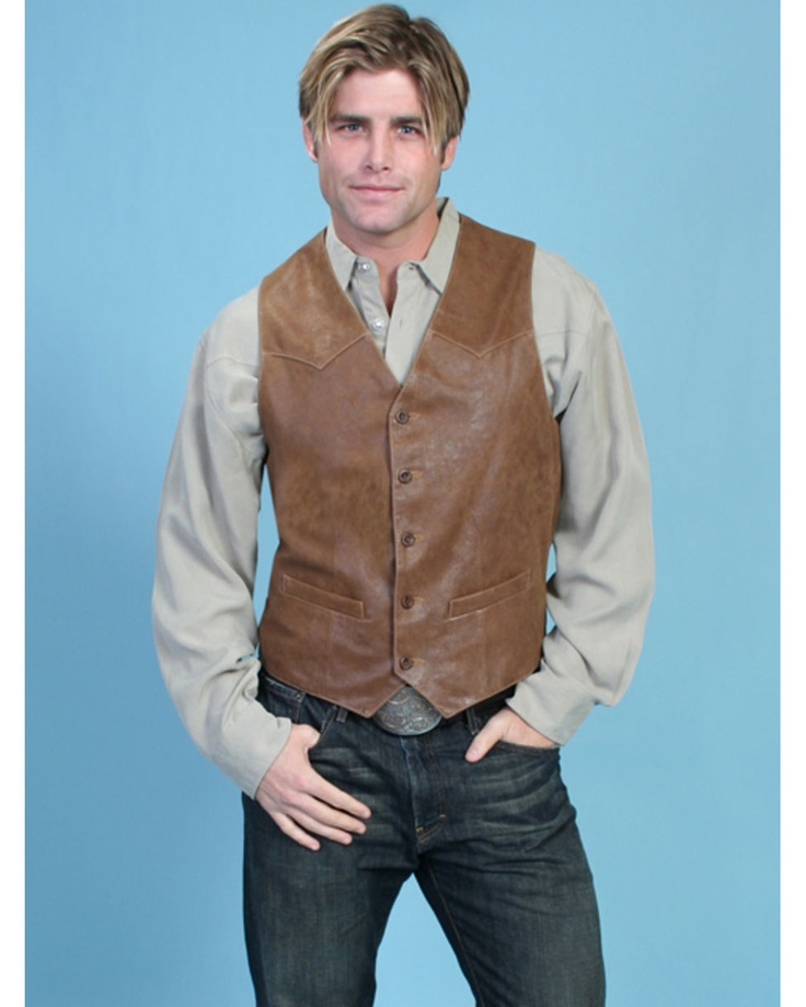 Scully Men's Western Vest - Vest is cool, model is cheesy
