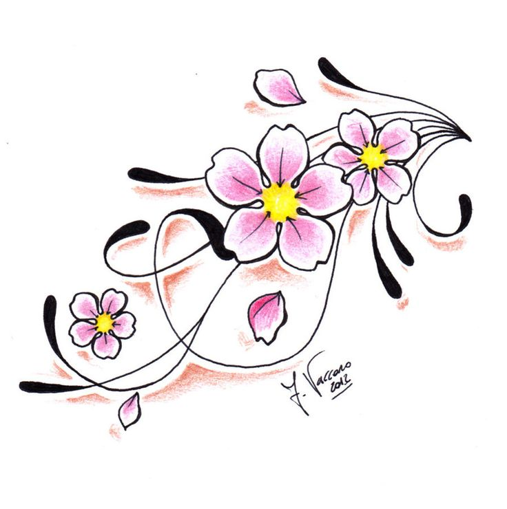 Orchidea rosa da tatuare