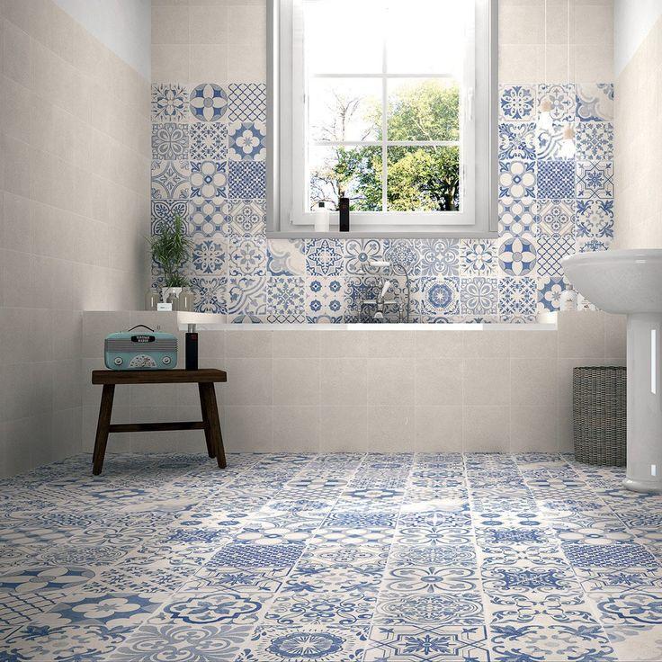 Elle Décor White 44.2 Cm X 44.2 Cm   Baked Tiles £33/m2