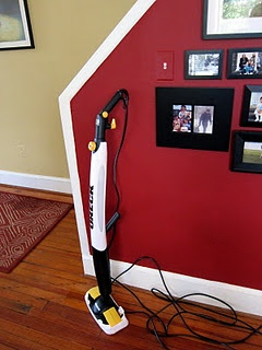 The Oreck Steam-It tackled the beautiful hardwoods in this stunning, older home.