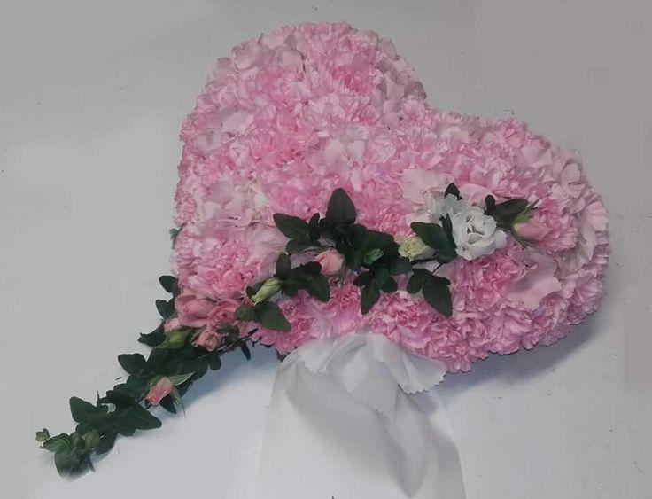 Hjerte, rosa nellik