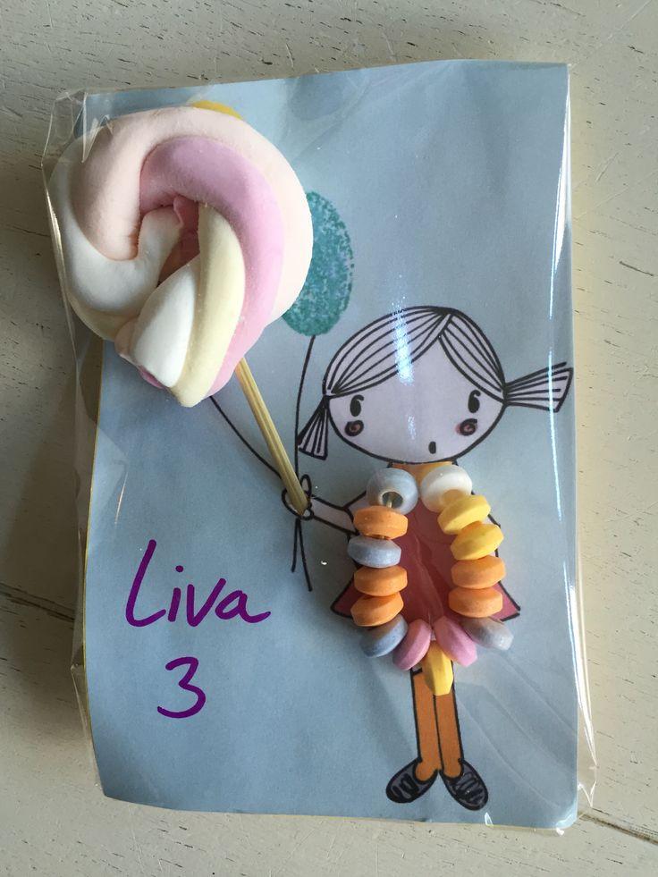 Traktatie meisje verjaardag. Birthday treat