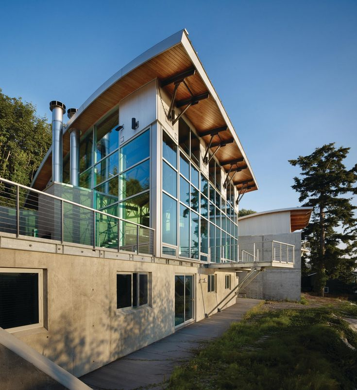 Contemporary Country Steel And Concrete Cabin Architecture Toobe8 W Seattle Residence Glass Exterior Design With Cable