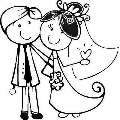 Dibujo boda graciosa - Imagui