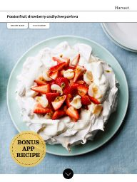 Waitrose Food March 2017: Passion fruit, strawberry and lychee pavlova