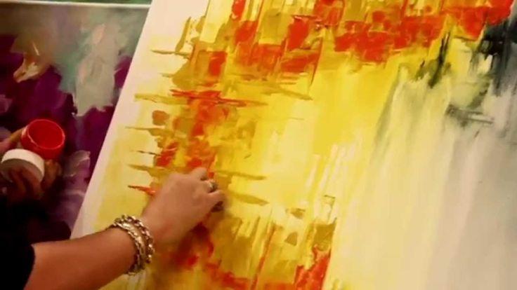 Como pintar un cuadro abstracto - Gabriela Mensaque - Artistica Monitor