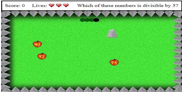 Math Snake HTML5 canvas Game