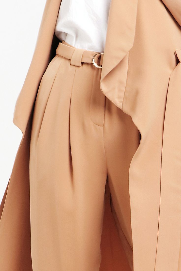 Peg Leg Trousers with D-Ring Belt in Tan https://www.paisie.com/collections/new-in/products/peg-leg-trousers-with-d-ring-belt-in-sand