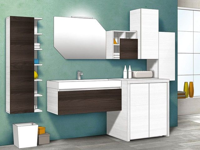 49 best images about mobili bagno componibili qubo on for Mobili componibili per bagno