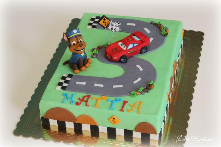 cake cars paw patrol