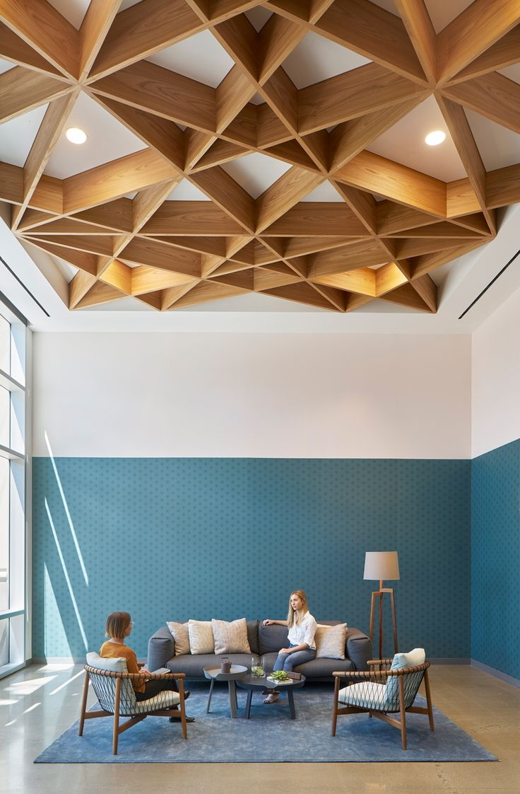 Best 25 office ceiling design ideas on pinterest commercial office design open office and - Design on wooden ...