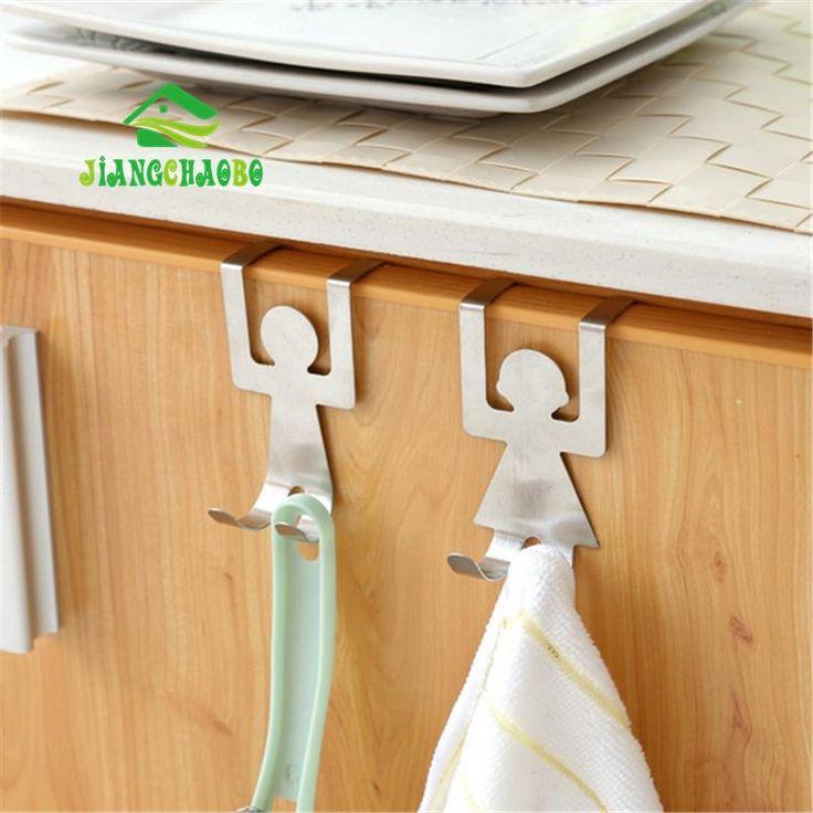 2pcs/set Stainless Steel Man/ Woman-Shaped Hooks Hangers