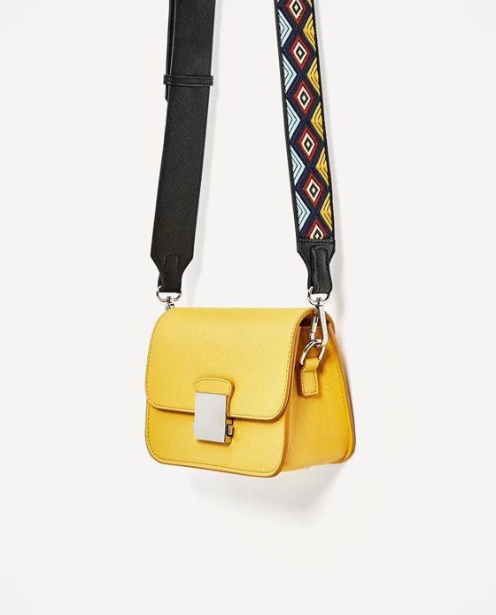 CROSSBODY BAG WITH MULTICOLOURED STRAP from Zara