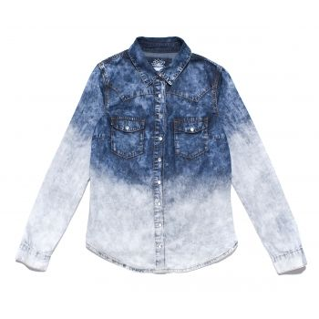 DENIM BOX tweed showroom denim shirt jeans ombre